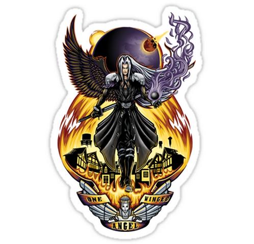 SRBB1346 One Winged Angel - Sticker Car Window Decal Sticker anime