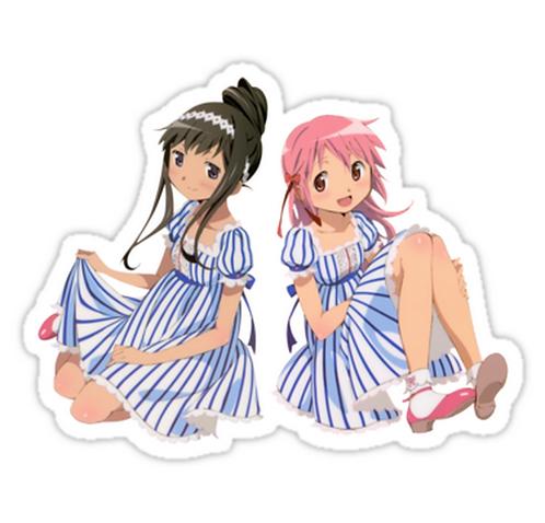 SRBB0881 Madoka Magica- Homura Akemi and Madoka Kaname Car Windowsticker anime