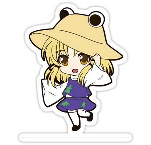 SRBB0310 Suwako Moriya chibi Car Window Decal Sticker  anime
