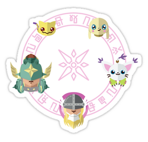 SRBB0830 Digimon: Crest of Light Car Window Decal Sticker anime