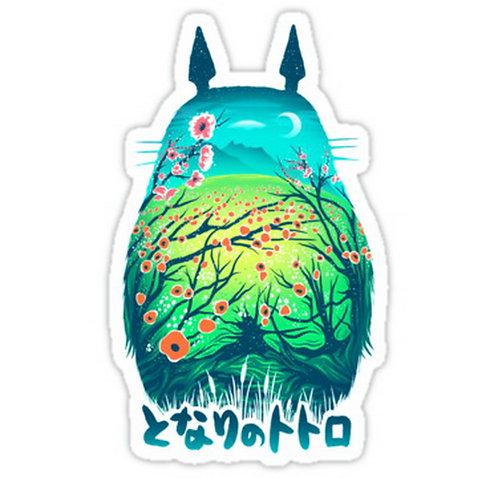 SRBB0169 Ponyo, HAMMMMUUUU Car Window Decal Sticker  anime