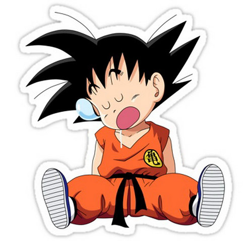 SRBB0491	Goku DRAGON BALL Z anime sticker