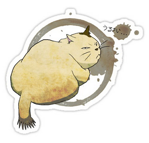 SRBB0087 Muta The Cat Returns Car Window Decal Sticker anime