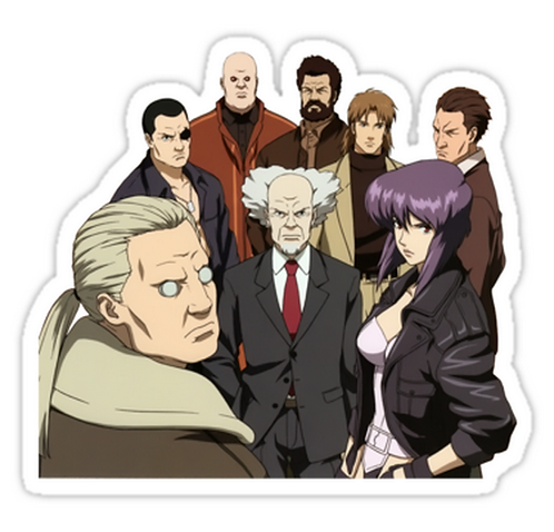 SRBB1142 ghost in the shell motoko kusanagi batou section 9 anime sticker