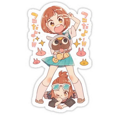 SRBB0340Mako Mankanshoku anime sticker