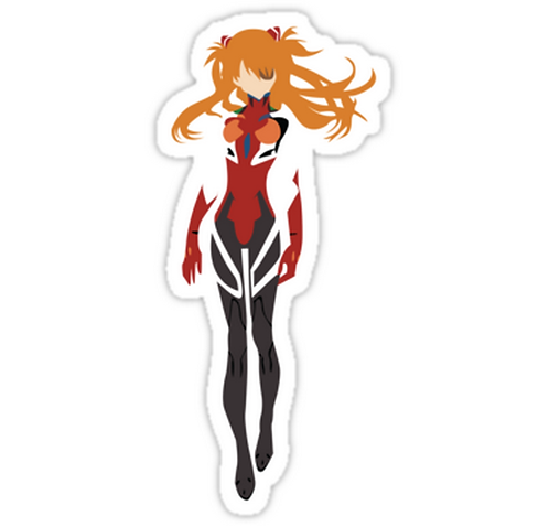 SRBB1143 Asuka - Evangelion Car Window Decal Sticker anime