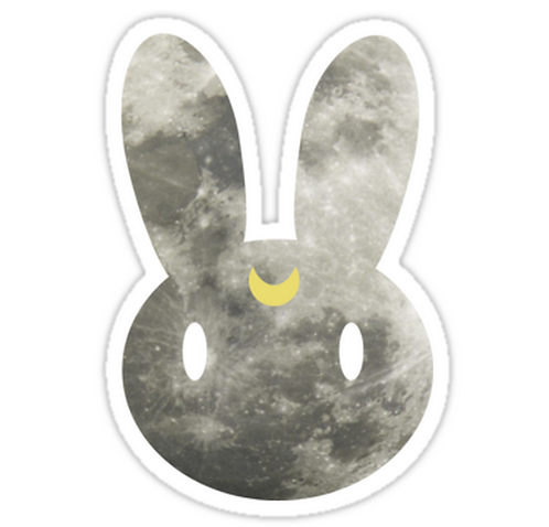 SRBB1736 Moon Bunny Car Window Decal Sticker anime