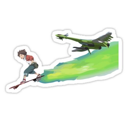 SRBB0897 The Boy and the Gekko Car Window Decal Sticker anime