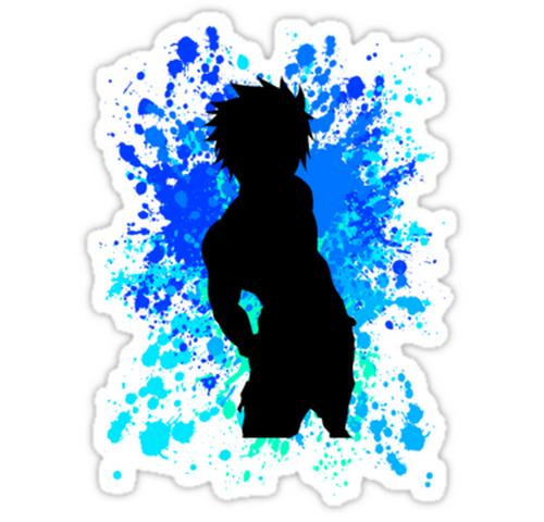 srbb0846 gray fullbuster paint splatter anime