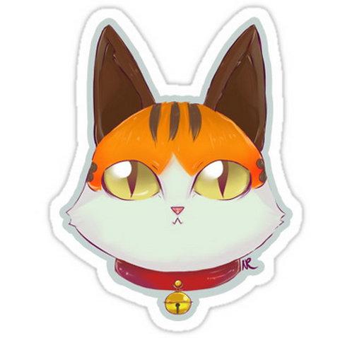 SRBB0298 Coeurl Kitten- FFXIV Car Window Decal Sticker anime