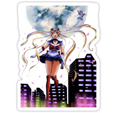 SRBB1672 Fighting Evil by Moonlight Car Window Decal Sticker anime