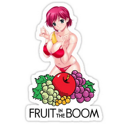 SRBB0468 Fruit In The Boom Car Window Decal Sticker anime