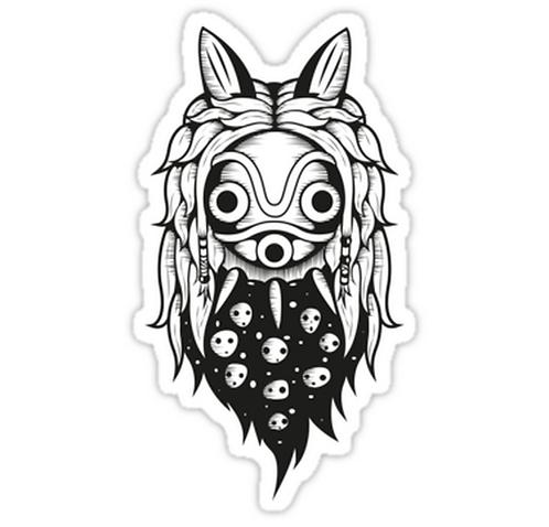 SRBB1089 Mononoke Spirit Mask Car Window Decal Sticker anime