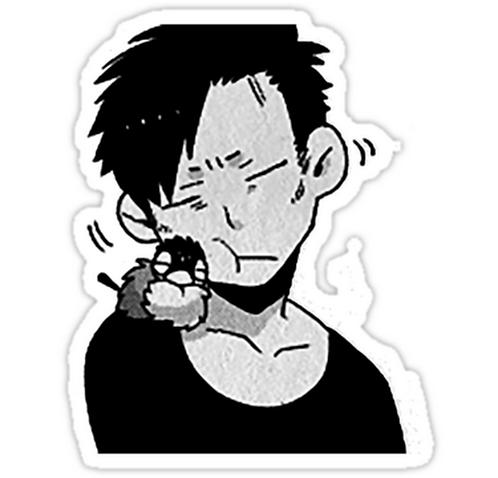 SRBB1279 Nicolas brown - Gangsta Car Window Decal Sticker anime