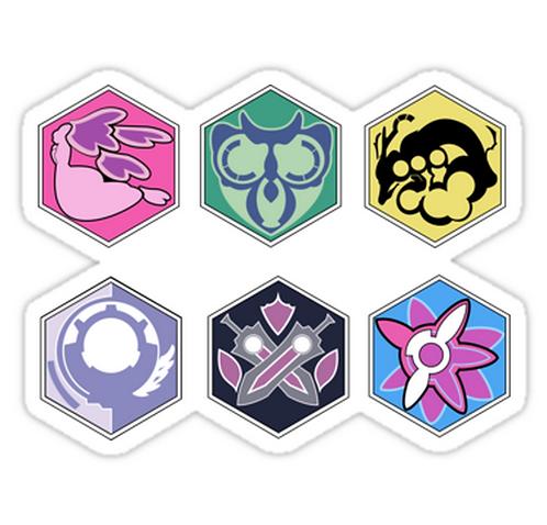 SRBB1404 Asterisk War Academy Badges Car Window Decal Sticker anime