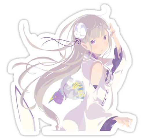 SRBB1665 ReZero - Emilia / Satella Car Window Decal Sticker anime