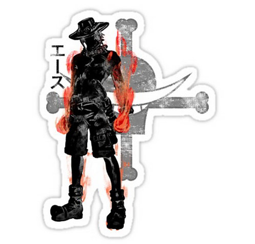 SRBB0365 Fire Fist Car Window Decal Sticker anime