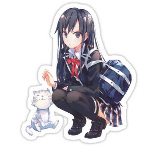 SRBB0366 yukinon and cat Car Window Decal Sticker anime