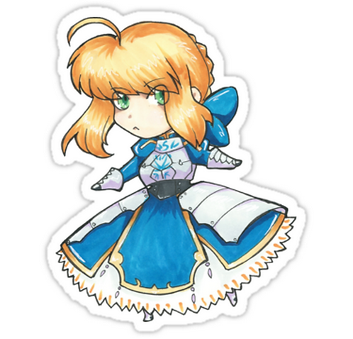 SRBB0774 Saber Car Window Decal Sticker anime