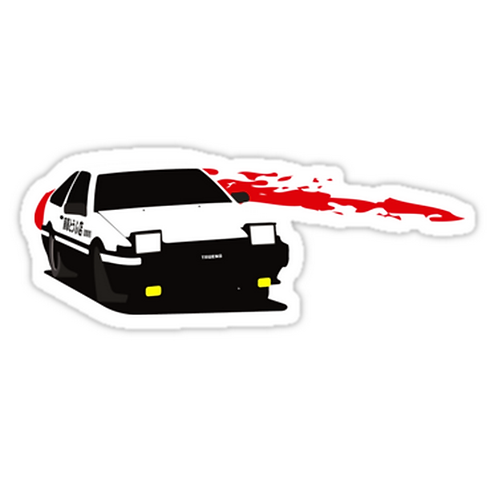 SRBB1278 InitialD Car Window Decal Sticker anime