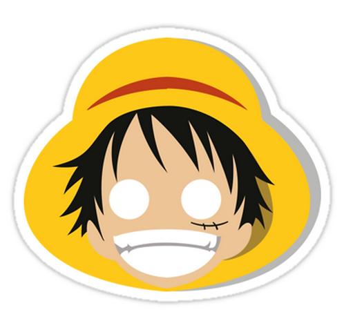 SRBB1664 Monkey D. Luffy Minimalistic Designe Car Window Decal Sticker anime