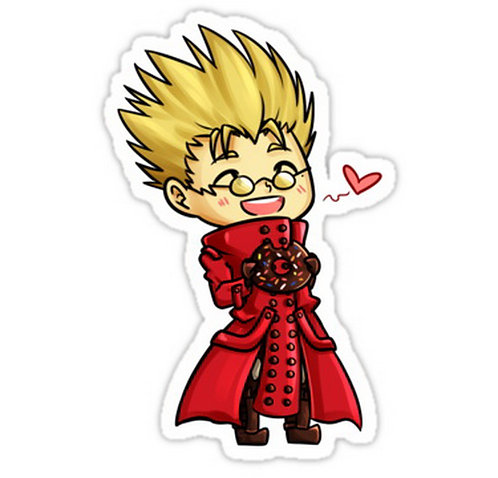 SRBB0070 Vash Trigun Badlands Rumble Car Window Decal Sticker anime