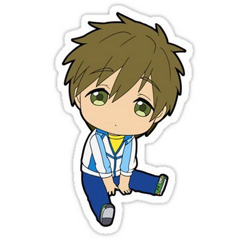 SRBB0281 Makoto Tachibana ChibiCar Window Decal Sticker anime