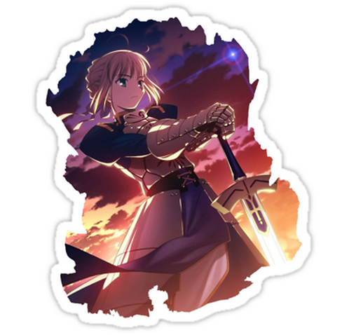 SRBB1778Saber anime sticker