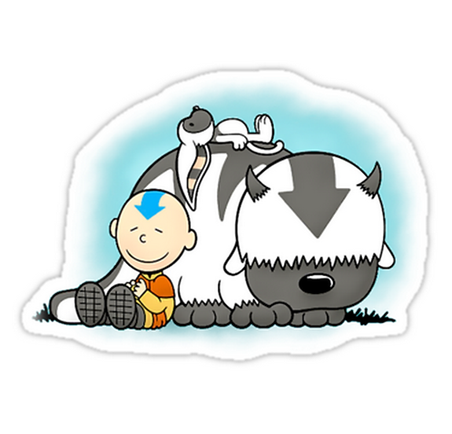 SRBB1246 Aang And Appa Avatar Car Window Decal Sticker anime