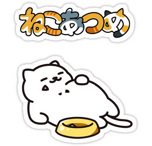 SRBB0197 Neko Atsume Car Window Decal Sticker anime