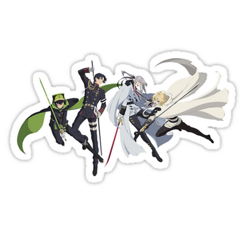 SRBB1571 Owari no Seraph Car Window Decal Sticker anime