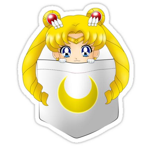 SRBB1531 Sailor Moon pocket Car Window Decal Sticker anime