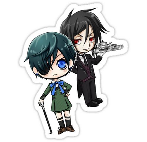 SRBB1116 Kuroshitsuji - Ciel & Sebastian Car Window Decal Sticker  anime