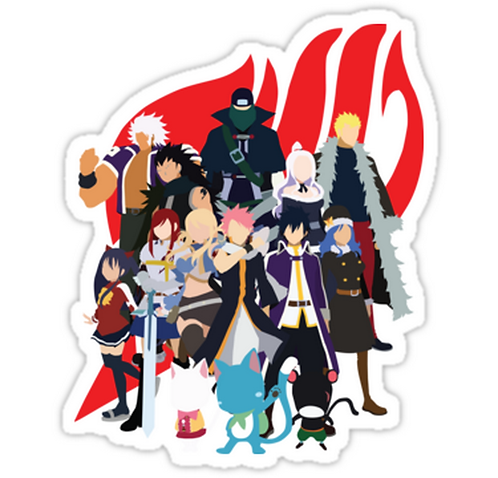 SRBB1254 We Are Fairy Tail Car Window Decal Sticker anime