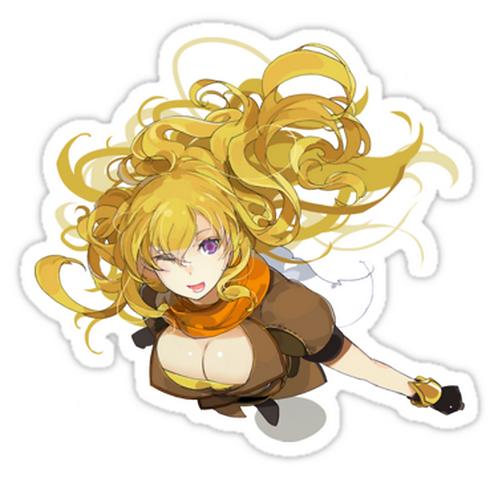 SRBB1076 RWBY - Say Hello to Yang Car Window Decal Sticker anime
