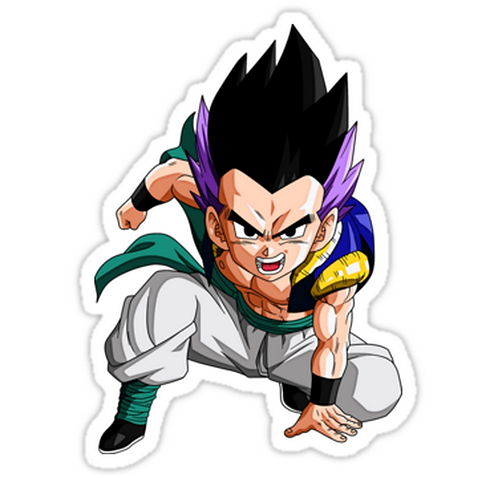 SRBB1764Gotenks DRAGON BALL Z anime sticker