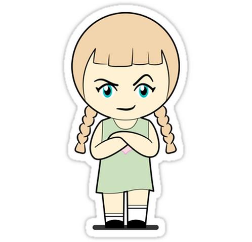 SRBB1663 Piccola Simo Baffled Angry Car Window Decal Sticker anime