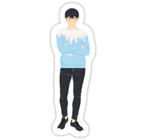 SRBB1193 Milk sweater Kageyama Car Window Decal Sticker anime