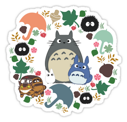 SRBB0913My Neighbor Totoro Wreath - Anime sticker