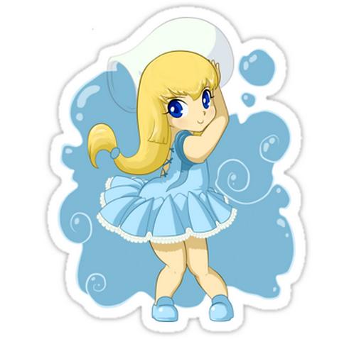 SRBB1160 Aquarius girl Car Window Decal Sticker anime