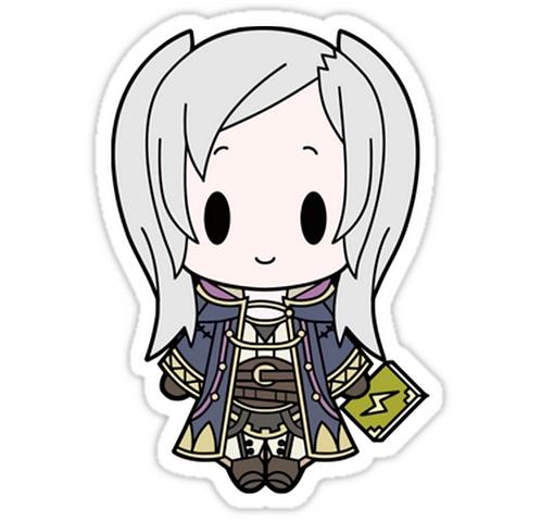 SRBB0909 Female MC Chibi Car Window Decal Sticker anime