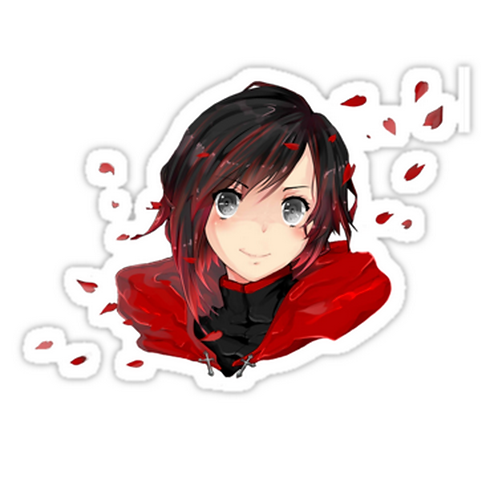SRBB1078 Ruby Rose Car Window Decal Sticker anime