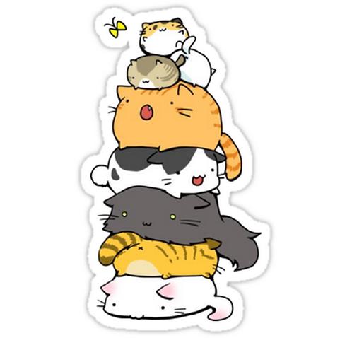 SRBB1688 Cat Mountain Car Window Decal Sticker anime