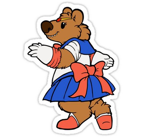 SRBB1564 Pretty Sailor Bear Car Window Decal Sticker anime