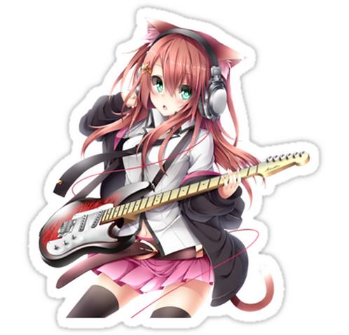 SRBB1232 Anime rock Car Window Decal Sticker anime