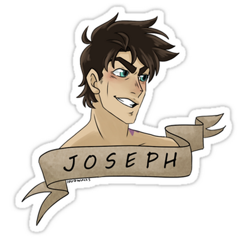 SRBB1673 Joseph Joestar Car Window Decal Sticker anime