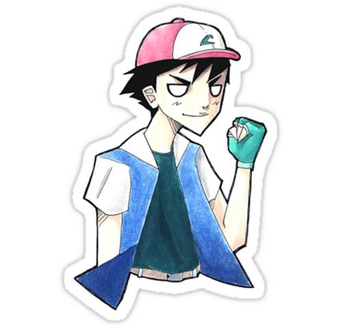 SRBB1314 Pokemon: Ash Ketchum Car Window Decal Sticker anime