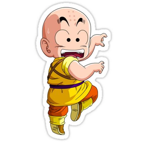 SRBB1320Dragon Ball z- Little Krillin anime sticker