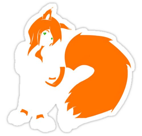 SRBB1581 OMG its Firefox anime girl Car Window Decal Sticker