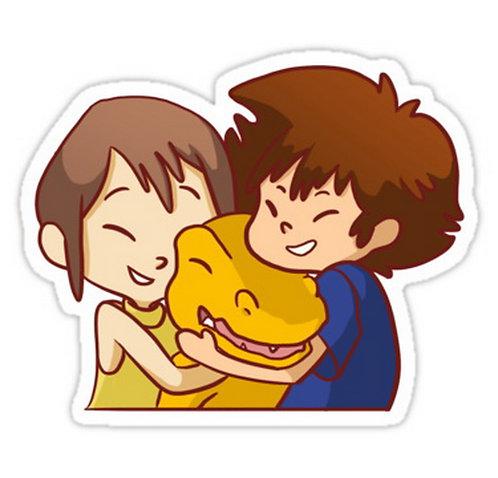 SRBB0191 Tai and Kari Car Window Decal Sticker anime